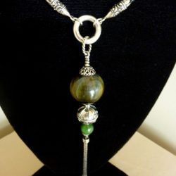 Jade Tassel Necklace