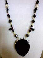 Onyx Angel Necklace
