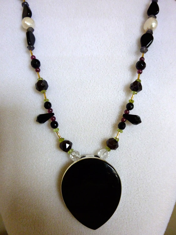 Onyx Angel Necklace