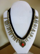 Silver Red Coral Necklace